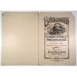 Poor's Directory of Railroads and Railway Officials 1905 Specimen Covers ABNC