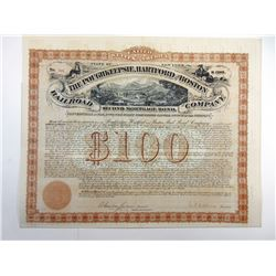 Poughkeepsie, Hartford and Boston Railroad Co. 1875 I/U Bond