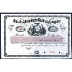 Twenty Third Street Railway Co., 1900-20 Specimen Stock Certificate.