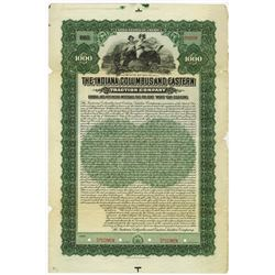 Indiana, Columbus and Eastern Traction Co. 1906. Specimen Bond.