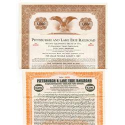 Pittsburgh & Lake Erie Railroad Co., Equipment Trust of 1920 Specimen Bond Pair