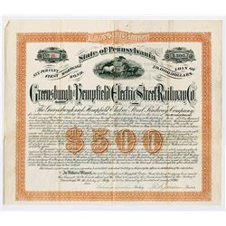 Greenburgh and Hempfield Electric Street Railway Co., 1890 I/U Bond