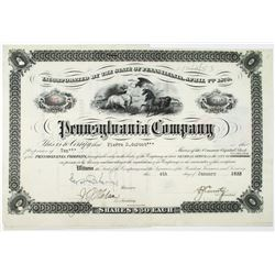 Pennsylvania Co. 1933 Stock Certificate Issued to and Signed by Pierre duPont