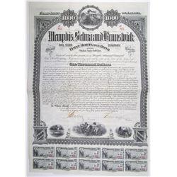 Memphis, Selma and Brunswick Rail Road Co. 1882 Bond