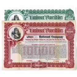 Union Pacific Railroad Co., 1917 Specimen Bond Pair