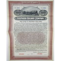 Southern Railway Co. 1917 Specimen Bond Rarity