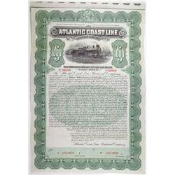 Atlantic Coast Line Railroad Co. 1902 Specimen Bond