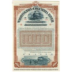 Washington and Columbia River Railway Co., 1895 Specimen Bond