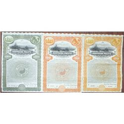 Northern Pacific Railway Co. Specimen Bond Trio Rarity, ca. 1922-1923