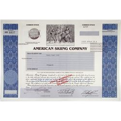 American Skiing Co. 2004 Stock Certificate