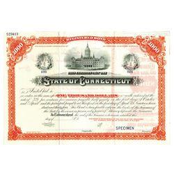 State of Connecticut, ca.1909 Specimen Bond