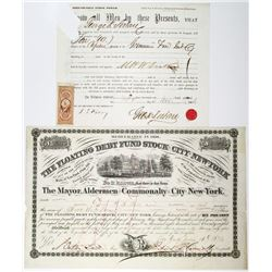 George K. Sistare Issued Stock Power and Bond Pair, 1863-1870