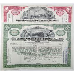 Cuban Sugar I/U Stock Certificate Pair, ca. 1958-1959