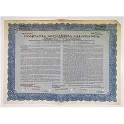 Salamanca Sugar Co., 1923 Specimen Stock Certificate