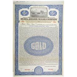 Punta Alegre Sugar Co. 1922 Specimen Bond