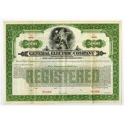 General Electric Co. 1920 Specimen Gold Bond