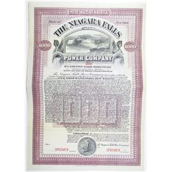 Niagara Falls Power Co. 1906 Specimen Bond