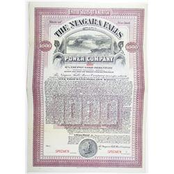 Niagara Falls Power Co. 1906 Specimen Bond