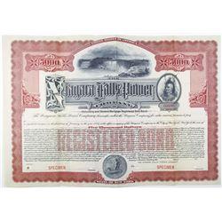 Niagara Falls Power Co., ca.1890's Specimen Bond