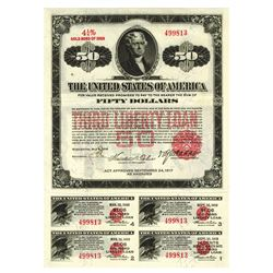 Third Liberty Loan Bond 4 1/4% Gold Bond of 1928 Issue May 9, 1918.