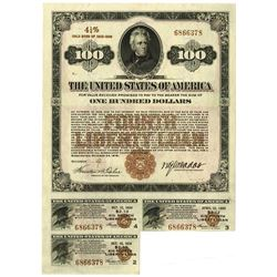 Fourth Liberty Loan 4 1/4% Gold Bond of 1933-1938 Issue October 24, 1918.