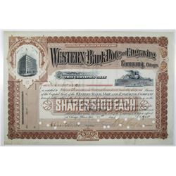 Western Bank Note and Engraving Co. 1905 Stock Certificate
