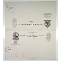 American Bank Note Co. 1916 Approval Proof Letterhead