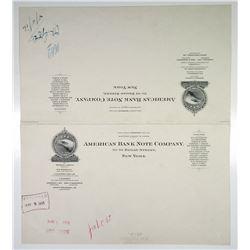 American Bank Note Co. 1916 Approval Proof Letterhead