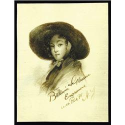 Baldwin & Gleason, Celluloid Business Card intaglio Engraved,  ca.1870-90's