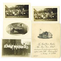 Bank Note Members of the Koo Koo Klub 1889 Reception Invitation & Photograph Quartet