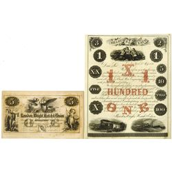 Rawdon, Wright, Hatch & Edson, Engravers, 1851 Advertising Note and 1856 Ad Sheet.