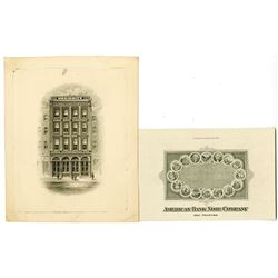 ABN Business card with Micro Printing of Declaration of Independence, ca. 1900 and Security BNC Vign