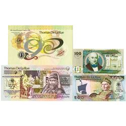 Group of De La Rue International Bank Note Society Advertising Notes 1988-1996 Quartet.