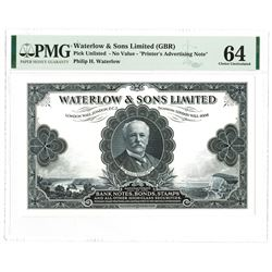 Waterlow & Sons Limited, ND (ca.1910-20) Advertising Proof Note