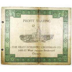 Riley-Schubert-Grossman Co. 1916 Profit Sharing Brochure & Signed Contract