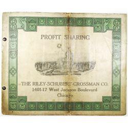 Riley-Schubert-Grossman Co. 1916 Profit Sharing Brochure & Signed Contract