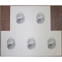 Robert E. Lee, ca.1930-40's Proof Vignette Quintet