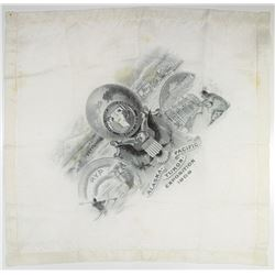 Alaska-Yukon-Pacific Exposition of 1909 Silk Handkerchief Intaglio Printed