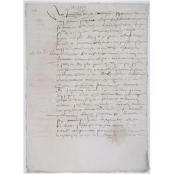 Handwritten French 1579, PŽrigord, France Document in French Calligraphy