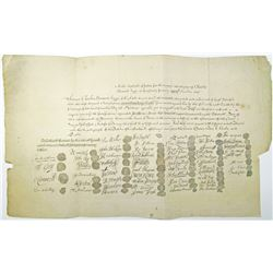 King Charles I 1649 Death Warrant Reproduction, ND (circa early 1700 to 1800's)