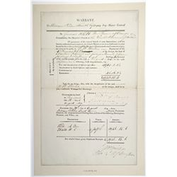 Military Payment Warrant Issued 1814 & Signed by William, Prince of Orange and John Colborne
