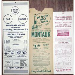 Vintage Special Train and Boat  Flier Trio, ca. 1939-1940