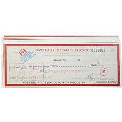 Wells Fargo Bank, 1971-72 I/C Check Group of 10