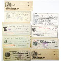 Oklahoma Checks, Drafts & Receipts, ca.1908 to 1920 Large Assortment.