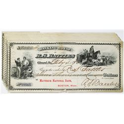 Banking House of R.S. Battles 1890 Issued Check Assortment