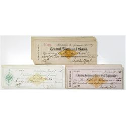 Pennsylvania, Assortment of Revenue Imprinted Issued Checks Group of 44