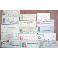 Miscellaneous Check, Draft & Receipt Group, ca.1840 to 1900's.