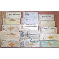 Various Early Checks and Drafts, ca.1840-1899