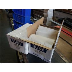 2 BOXES ULINE CLEAR PACKING LIST ENVELOPES