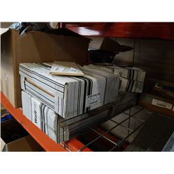 4 BOXES WHITE WALL TILE - 9.69 SQ FT PER BOX